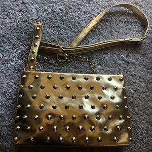 NWOT Melie Bianca Gold Tassel Crossbody Clutch bag